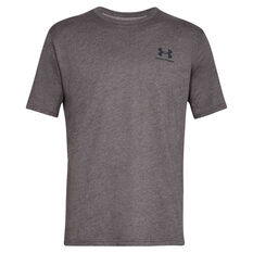 Under Armour Mens Sportstyle Tee Charcoal XS, Charcoal, rebel_hi-res