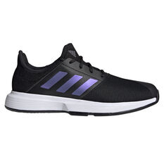 adidas Gamecourt Mens Tennis Shoes Black/White US 7, Black/White, rebel_hi-res