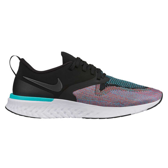 Nike Odyssey React Flyknit 2 Womens Running Shoes, Black / Green, rebel_hi-res