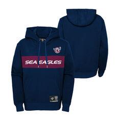 Manly Warringah Sea Eagles 2021 Kids Hoodie, Navy, rebel_hi-res