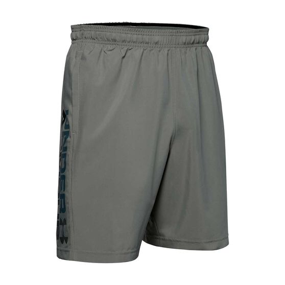 Under Armour Mens Woven Graphic Wordmark Shorts, Green, rebel_hi-res