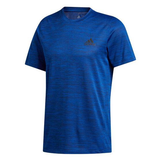 adidas Mens Axis Tech Tee Blue S, Blue, rebel_hi-res