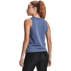 Under Armour Womens UA Repeat Muscle Tank, Blue, rebel_hi-res