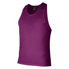 Nike Mens Run Division Adapt Running Tank Purple S, Purple, rebel_hi-res
