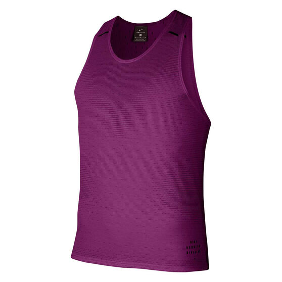 Nike Mens Run Division Adapt Running Tank, Purple, rebel_hi-res