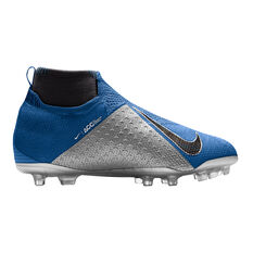 Nike Phantom Vision Elite Junior Football Boots Blue / Black US 4, Blue / Black, rebel_hi-res