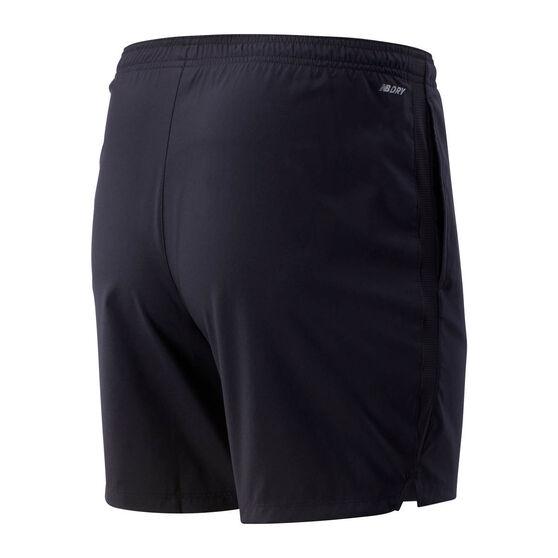 New Balance Mens Accelerate 7in Running Shorts, Black, rebel_hi-res