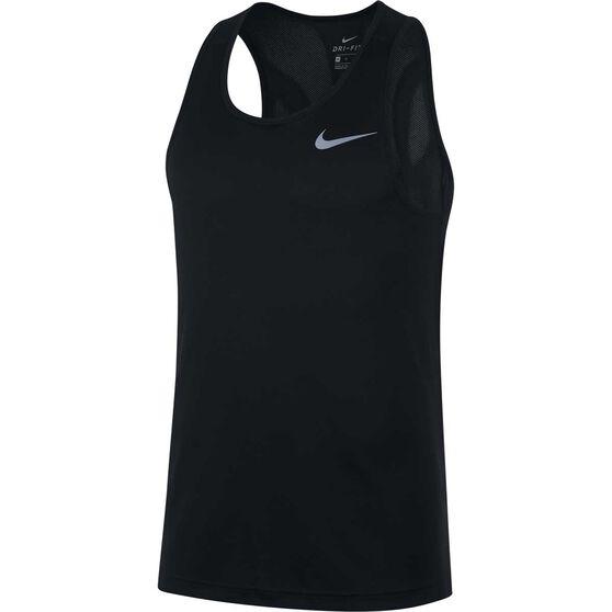 Nike Mens Dri-FIT Breathe Running Tank, Black, rebel_hi-res