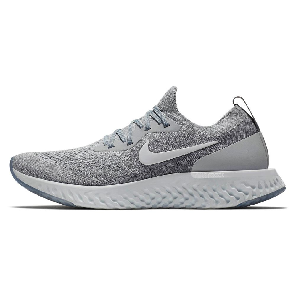 b38c190896bb3 Nike Epic React Flyknit Mens Running Shoes Grey   White US 13 ...