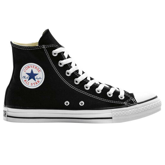 Converse Chuck Taylor All Star Hi Top Casual Shoes, Black / White, rebel_hi-res
