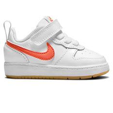 Nike Court Borough Low 2 Toddlers Shoes White/Orange US 2, White/Orange, rebel_hi-res