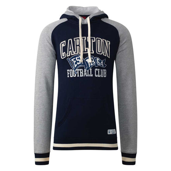 Carlton Blues Mens Collegiate Pullover Hoodie, Blue, rebel_hi-res