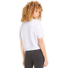 Puma Womens Essentials Cropped Logo Tee White XS, White, rebel_hi-res