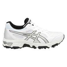 Asics GEL Trigger 12 Boys Cross Training Shoes White / Pink US 1, White / Pink, rebel_hi-res