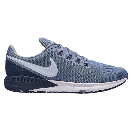 Nike Air Zoom Structure 22 Mens Running Shoes, Blue / Grey, rebel_hi-res