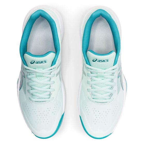 Asics GEL Game 7 Womens Netball Shoes, Green/Silver, rebel_hi-res