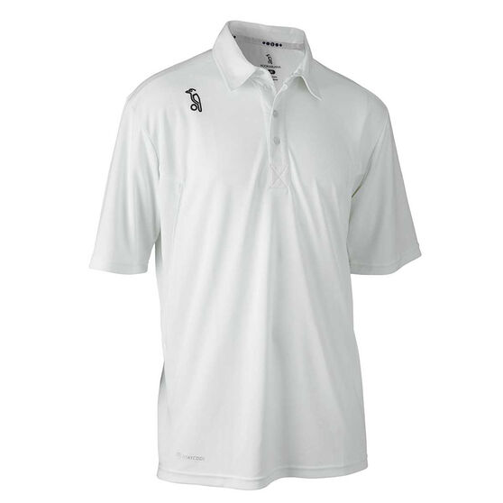 Kookaburra Junior Pro Active Cricket Shirt, White, rebel_hi-res