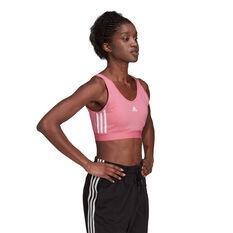 adidas Womens Essentials 3-Stripes Crop Top, Pink, rebel_hi-res