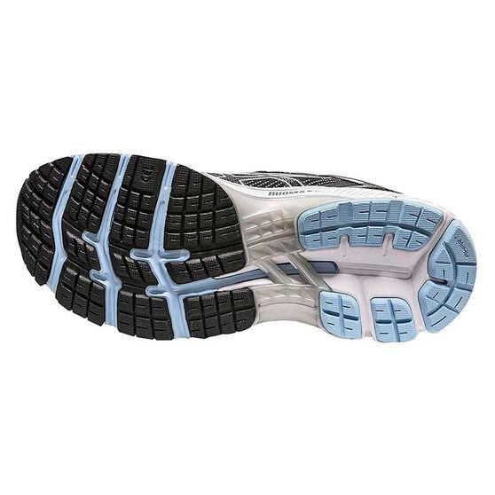Asics GEL Kayano 26 Womens Running Shoes, Black / Blue, rebel_hi-res
