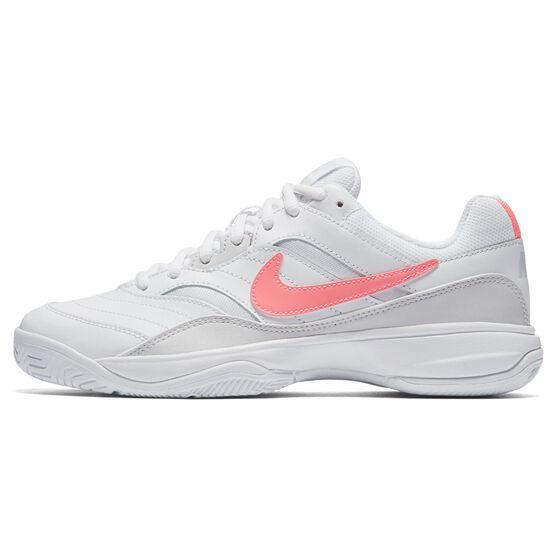 Nike Court Lite Womens Tennis Shoes, White / Orange, rebel_hi-res