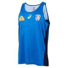Western Bulldogs 2019 Mens Training Singlet Blue S, Blue, rebel_hi-res