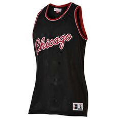 Mitchell and Ness Mens Chicago Bulls Mesh Tank Black S, Black, rebel_hi-res