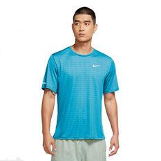 Nike Mens Run Division Miler Tee Blue S, Blue, rebel_hi-res