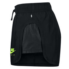 Nike Air Womens Running Shorts Black XS, Black, rebel_hi-res
