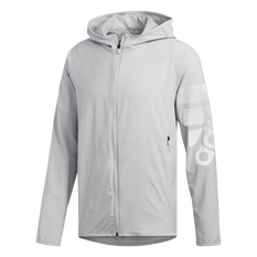 adidas Mens FreeLift Badge of Sport Hoodie Grey S, Grey, rebel_hi-res