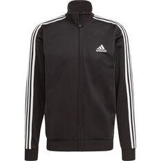 adidas Mens Essentials 3-Stripes Classic Tracksuit Black S, Black, rebel_hi-res