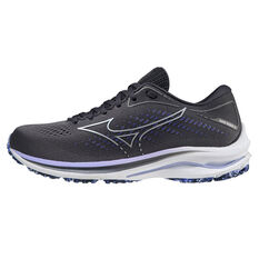 Mizuno Wave Rider 25 Womens Running Shoes Grey/Purple US 6, Grey/Purple, rebel_hi-res