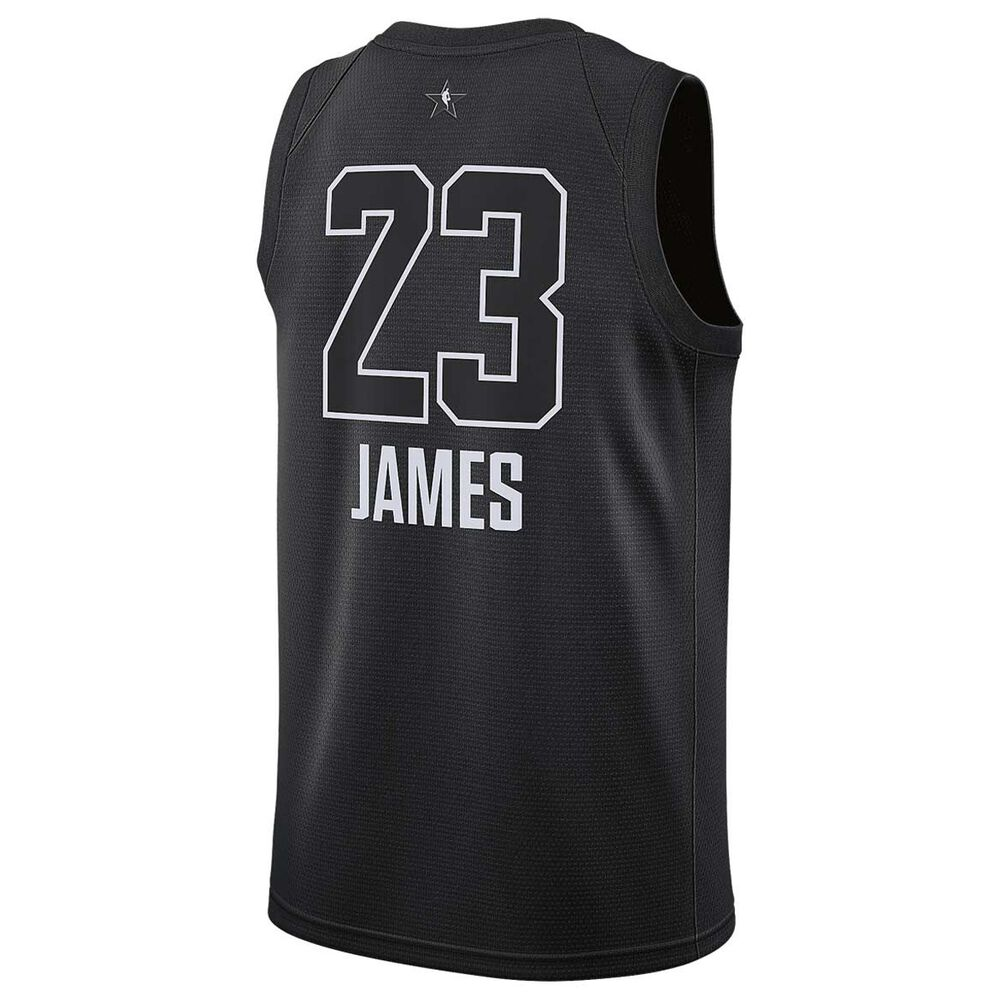 6d3b8f5ee6d9 Jordan LeBron James All Star 2018 Mens Swingman Jersey Black S ...