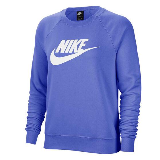 Nike Womens Sportswear Essentials Fleece Sweatshirt, Blue, rebel_hi-res