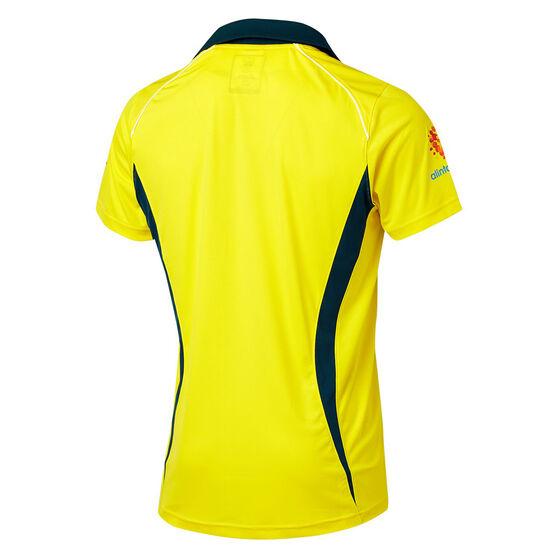 Cricket Australia 2018/19 Mens ODI Home Shirt Yellow XL, Yellow, rebel_hi-res