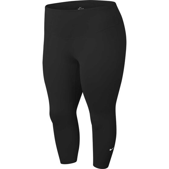 Nike Womens One 3/4 Tights Plus, Black, rebel_hi-res