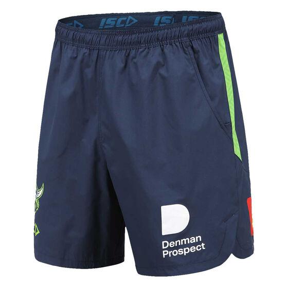 Canberra Raiders 2021 Mens Training Shorts, Navy, rebel_hi-res