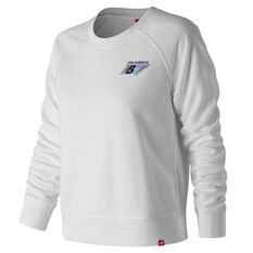 New Balance Womens Essentials 90s Crew Sweater White XS, White, rebel_hi-res