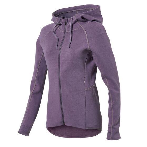 Ell & Voo Womens Helen Full Zip Training Hoodie, Purple, rebel_hi-res
