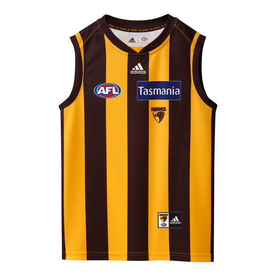 Hawthorn Hawks 2021 Kids Home Jersey, Brown, rebel_hi-res
