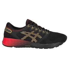 Asics Roadhawk FF 2 Mens Running Shoes Black / Gold US 7, Black / Gold, rebel_hi-res