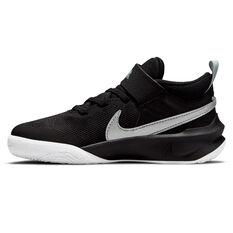 Nike Team Hustle D 10 Kids Basketball Shoes Black US 11, Black, rebel_hi-res