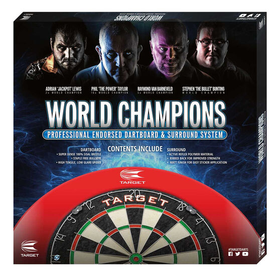 Target World Champions Round Wire Dartboard and Surround, , rebel_hi-res