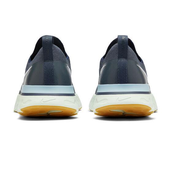 Nike React Infinity Run Flyknit Mens Running Shoes, Blue/Silver, rebel_hi-res