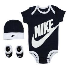 Nike Toddlers Futura Logo Boxed Set Obsidian 0-6 Months, Obsidian, rebel_hi-res