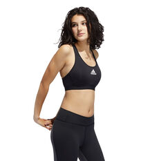 adidas Womens Don't Rest Alphaskin Padded Sports Bra, Black, rebel_hi-res