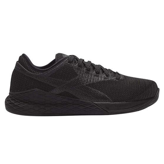 Reebok Nano 9 Mens Training Shoes, Black, rebel_hi-res