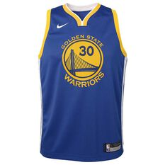 Nike Golden State Warriors Stephen Curry 2019 Kids Swingman Jersey Rush Blue L, Rush Blue, rebel_hi-res