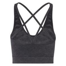 L'urv Womens Tranquil Seamless Crop Top Black XS, Black, rebel_hi-res