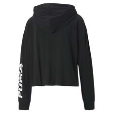 Puma Womens Essential Modern Sports Cover Up Hoodie Black XS, Black, rebel_hi-res