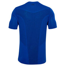 Under Armour Mens Seamless Training Tee, Blue, rebel_hi-res